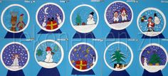 Snowglobe art - with glitter! Christmas Art Projects, Winter Art Projects, Winter Project, Classroom Art Projects, Art Classroom, Winter Activities, Art Activities, Artists For Kids, Art For Kids