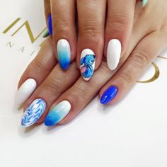 Discover recipes, home ideas, style inspiration and other ideas to try. Disney Acrylic Nails, Blue Acrylic Nails, Summer Acrylic Nails, Disney Nails Art, Disney Nail Designs, Cute Nail Designs, Acrylic Nail Designs, Nail Swag, Cruise Nails