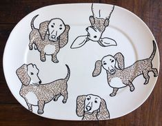 Finished! #dachshund #commisionedart #plate #tableware...#animals #dogs #dogsofinstagram #illustration #illustrationoftheday #instaart #teckel #finished #artistsoninstagram #art #paint #servies #cadeau #gift #illustrationart #lineart #illustrator #doglover #artistlife #artist #inopdracht #amsterdam #haarlem Dutch House, Line Art, Amsterdam, Tea Pots, Bee, Bunny, Birds, Plates, Ceramics