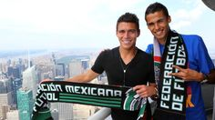 August 12, 2013: Mexican national #soccer team defenders Diego Reyes and Hector Moreno visited the 86th floor Observatory and VIP 103rd floor in advance of their match against Ivory Coast at Metlife Stadium. #WorldCup #futbol