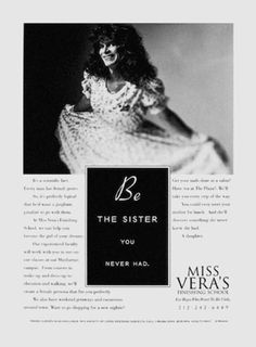 Read more: https://www.luerzersarchive.com/en/magazine/print-detail/6695.html Be the sister you never mad. Tags: Jeff Griffith,Griffith/Lovering, New York,Joe Lovering,Miss Vera´s Finishing School,Salzano Studio Inc., New York