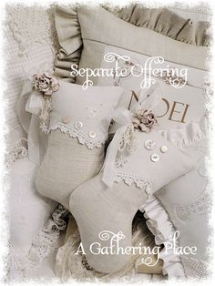 Vintage Lace Chic Stocking Sachets with a French Farmhouse twist...