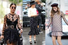Star print clothing street style—If there was one print that took spring/summer 2017 by storm, it was the polka dot. But come fall, starry motifs will be everywhere. Scroll for the best options in the universe. Star Print, Must Haves, Lace Skirt, Polka Dots, Universe, Spring Summer, Street Style, Style Inspiration, Trends