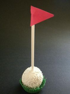 """Golf Ball Crafts Golf Ball Cake Pop Golf ball cake pop trial run. I used small silicone cupcake molds to make the """"grass"""". Golf Cake Pops, Golf Ball Cake, Golf Cupcakes, Mini Cupcakes, Birthday Present Dad, Dad Birthday, Happy Birthday, Birthday Cake, Golf Baby Showers"""