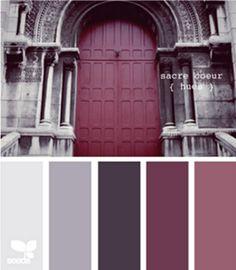 Paleta de colores berenjena. Inspiración de color.