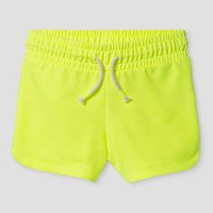 Girls' Knit Pull On Shorts Cat & Jack - Yellow Xxl, Superb Yellow