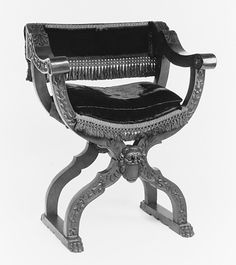 Folding armchair, MMoA Date:     second half 16th century Culture:     Italian (Venice) Medium:     Walnut Dimensions:     36 x 29 x 18-1/4 in. (91.4 x 73.7 x 46.4 cm)