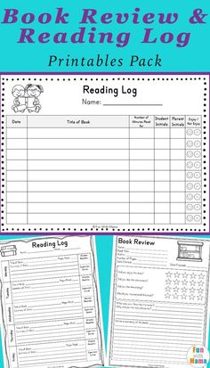 summer goals template Easy to use Reading Log PDF and Book Report Templates for Summer Reading Goals from Fun with Mama Reading Log Pdf, Reading Log Printable, Reading Record, Reading Charts, Reading Goals, Reading Workshop, Guided Reading, Kids Reading, Book Review Template Ks2