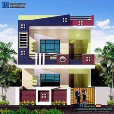 House Outer Design, Modern Small House Design, Bungalow House Design, House Front Design, My Home Design, Door Design, Front Yard Garden Design, Balcony Design, Front Elevation Designs