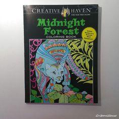 Midnight Forest - Creative Haven - Coloring Book. Gribouilleuse.com pour voir tous les coloriages réalisés dans ce livre. #creativehaven #midnightforest #coloringbook #coloriage #coloriagepouradultes #coloriageantistress #arttherapie #artthérapie