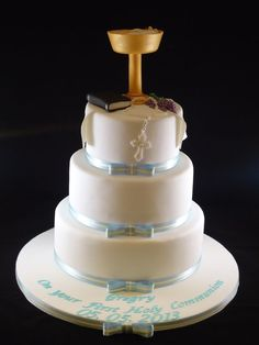 first holy communion cakes for boys | Gregry's Holy Communion Cake. — First Communion