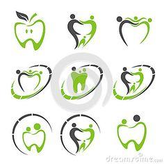 Ejemplo abstracto del vector de dientes Insignia dental