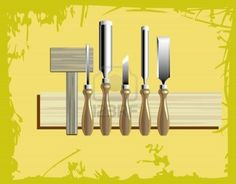 woodcarving kit w wooden mallet