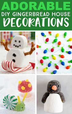 25 Gingerbread House Ideas, Tips, and Tricks - Fun Loving Families Create an adorable candy scene to go with your gingerbread house. Lots of great gingerbread house ideas here. Gingerbread House Designs, Gingerbread House Parties, Gingerbread Village, Gingerbread Decorations, Christmas Gingerbread House, Gingerbread Recipe For House, Gingerbread House Decorating Ideas, Gingerbread Cookies, Candy Decorations