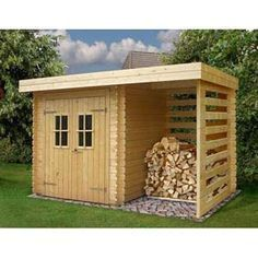 garden shed with storage for firewood #deckbuildingstoragesheds