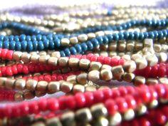 Detail of the Lamai necklaces colors