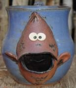 Blue Fish Handmade Ceramic Mugs 3D