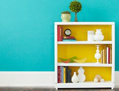 The Design Pages: Add Some Colour to a Bookcase