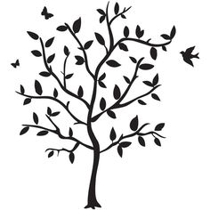 Godinger Philip Whitney Tree Wall Decal (€19) ❤ liked on Polyvore featuring home, home decor, wall art, backgrounds, decor, flowers, filler, black, phrase and quotes