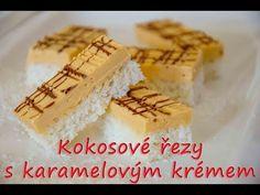 Kokosové řezy s karamelovým krémem / Helenčino pečení - YouTube Waffles, Cheesecake, Food And Drink, Pie, Breakfast, Youtube, Torte, Morning Coffee, Cake