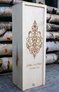 Laser engraved wine box