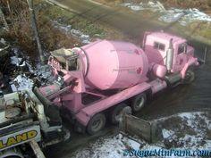 Mixer Truck, Concrete Mixers, Vintage Trucks, Cement, Boards, Pumps, Plants, Pink, Beautiful
