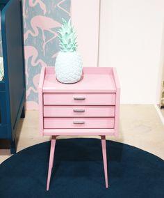 meuble Laurette déco chevet rose