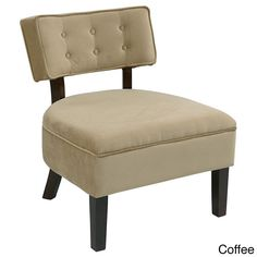 Office Star Products Curves Button Tufted Back Accent Chair (