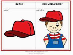 ODYOLOG, KONUŞMA ve SES BOZUKLUKLARI UZMANI PELİN KİŞİOĞLU KALAN: BU NE? ---BU KİMİN? ÇALIŞMA SAYFALARI Learn Turkish, Erdem, Speech Therapy, Preschool Activities, Homeschool, Clip Art, Education, Learning, Fictional Characters