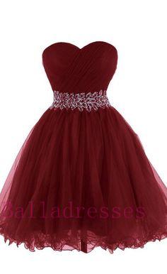 Burgundy Homecoming Dress,Wine Red