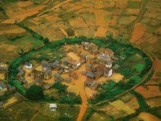 Precioso pueblecito cerca de Antananarivo, Madagascar