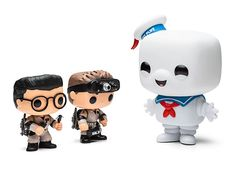 Not really a fan of Funko Pop figures, but love these Ghostbusters Pop figurines, especially Stay Puft Marshmallow Man Funko Pop Toys, Funko Pop Figures, Pop Vinyl Figures, Vinyl Toys, Funko Pop Vinyl, Funko Pop Ghostbusters, Laika Studios, Pop Figurine, Disney Pop