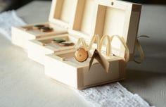 Stud Earrings – Hand painted oraange green earrings, wood studs – a unique product by HankaG on DaWanda