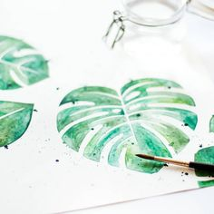 #monstera #plantfortheplanet #plantlove #aquarell #davinci #hahnemühle #paper #green #plantlover #watercolor #aquarelle #watercoloring #illustration Lettering, Floral Watercolor, Illustration, Florals, Plant Leaves, Instagram, Paper, Green, Plants