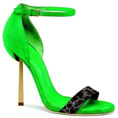 Spring 2014 Accessories Milan Slideshow ❤ liked on Polyvore featuring shoes and green