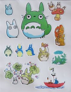 Totoro PVC Sticker Sheet Luggage Laptop Bike Fridge Studio Ghibli Miyazaki