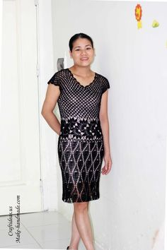 Crochet dress for evening party -- charts.