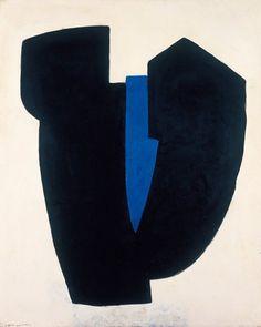 "Serge Poliakoff, ""Composition Abstraite"" Tempera on canvas 63 x 51 inches © 2016 Artists Rights Society (ARS), New York / ADAGP, Paris Willem De Kooning, Franz Kline, Contemporary Abstract Art, Modern Art, Design Blog, Design Art, Interior Design, Illustration Arte, Jackson Pollock"