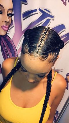 box braids dreads tranças africana tranças boxbraids tranças boxeadora tranças sintéticas Crochet braids tranças afro braids tranças afro Braids passo a passo Baddie Hairstyles, Girl Hairstyles, Hairstyles For Black Kids, Teenage Hairstyles, School Hairstyles, Hairstyles 2018, African Braids Hairstyles, Braided Hairstyles, 2 Cornrow Braids