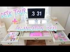 Desk Tour + Desk Organization Ideas: How To Organize Your Desk
