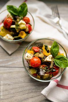 bulgarian style warm vegetable salad
