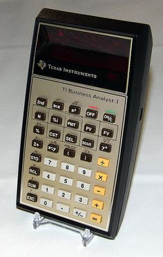 Vintage Texas Instruments Business Analyst - I Pocket LED Calculator, Made in USA, A Common TI Calculator, Circa 1979.