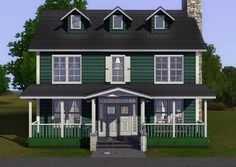 Rodchenko 4BR 3BA, no CC house by plasticbox - Sims 3 Downloads CC Caboodle