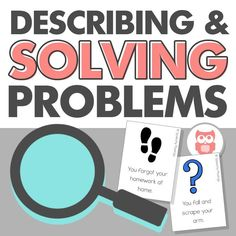 """Do you have students on your caseload that have trouble determining how big or small their problems are? This packet will get them thinking about questions such as, """"Do I need an adult to solve this?"""", """"Will this problem last a long time?"""", """"Does this problem have an easy, obvious solution?"""", and """"How many people does this problem affect?"""". It describes problems by 4 characteristics: people, time, solution, and danger. Purchase the packet to learn more! #problemsolving…"""