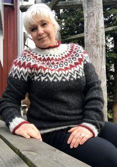 Riddari tröja Norwegian Knitting, Icelandic Sweaters, Nordic Style, Christmas Sweaters, Diy And Crafts, Autumn Fashion, Men Sweater, Handmade, Inspiration