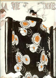 Original Art Deco Print 1922 Edition Of La Vie Parisienne French Fashion… Art Deco Illustration, Magazine Illustration, French Illustration, Belle Epoque, Art Deco Stil, Art Deco Era, Fashion Magazine Cover, Magazine Art, Magazine Covers