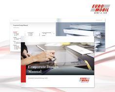 """Neues CD für euromobil Dieser """"Neustart"""" legt den Grundstein für diverse neue Informations- und Kommunikationsmittel wie zum Beispiel Preislisten, Folder, Geschäftsausstattungen, Werbemittel, Anzeigen, Mailings, Broschüren, Verkaufsförderungsaktionen und eine neue Homepage."""