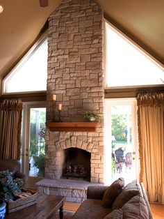 View the dramatic transformation that thin stone veneer can have on your existing fireplace. Your fireplace can be dated brick, boring drywall or maybe the inexpensive tile and wood surround that