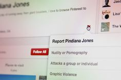 Pinterest engineers finally make it possible for users to flag contentious content.