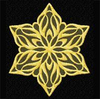 4-Hobby.com - Machine Embroidery Designs :: Free Gold Snowflake Machine Embroidery Design